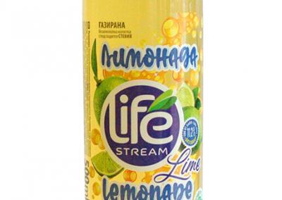 Газирана лимонада лайм със стевия